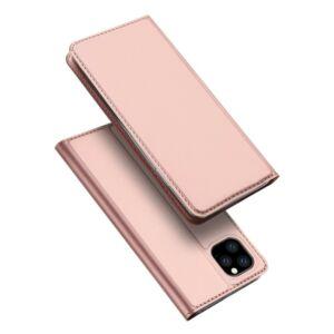 Samsung Galaxy S20 - DUX DUCIS SKIN PRO tok álló, bőr hatású - ROZÉARANY