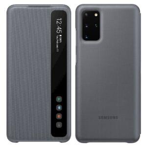 Samsung Galaxy S20 Plus (G985) CLEAR VIEW COVER, GYÁRI FLIP TOK Szürke EF-ZG985CJ