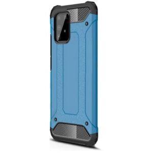 Samsung Galaxy S20 Plus (G985) Defender műanyag telefonvédő (közepesen ütésálló, légpárnás sarok, szilikon belső, fémhatás) Világoskék