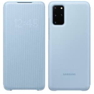 Samsung Galaxy S20 Plus (G985) LED VIEW COVER, GYÁRI FLIP TOK, Világoskék EF-NG985PL