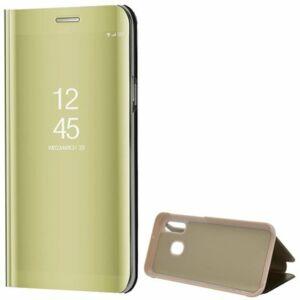 Samsung Galaxy S20 Plus (G985) Mirror View Case álló fliptok - Arany