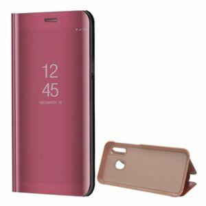 Samsung Galaxy S20 Plus (G985) Mirror View Case álló fliptok - Rózéarany