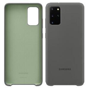 Samsung Galaxy S20 Plus (G985F) SILICONE COVER, GYÁRI SZILIKON TOK, SZÜRKE  EF-PG985TJ