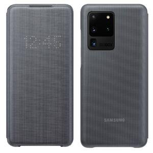 Samsung Galaxy S20 Ultra (G988) LED VIEW COVER, GYÁRI FLIP TOK, Szürke EF-NG988PJ