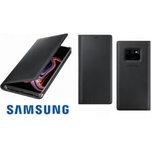 SAMSUNG N960 GALAXY NOTE 9 GYÁRI LEATHER VIEW COVER, BŐR FLIP TOK, FEKETE, EF-WN960LB, (SM-N960)