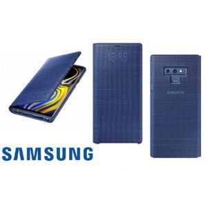 SAMSUNG N960 GALAXY NOTE 9 GYÁRI LED VIEW COVER, FLIP TOK, KÉK, EF-NN960PL, (SM-N960)