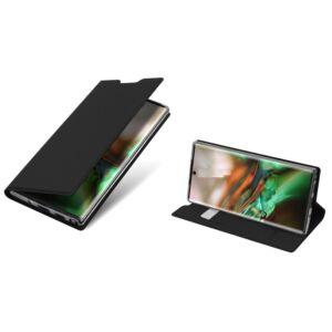 Samsung N970 Galaxy Note 10 - DUX DUCIS SKIN PRO tok álló, bőr (FLIP, oldalra nyíló, bankkártya tartó, asztali tartó funkció) FEKETE