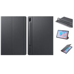 Samsung T860 Galaxy Tab S6 EF-BT860PLEG gyári tok álló (aktív flip, oldalra nyíló, asztali tartó funkció, érintőceruza tartó) Szürke