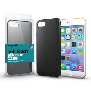 Soft Touch Silicone Case fekete Apple iPhone 11 készülékhez