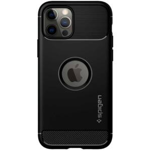 SPIGEN RUGGED ARMOR APPLE IPHONE 12/12 PRO MATTE BLACK TOK, FEKETE