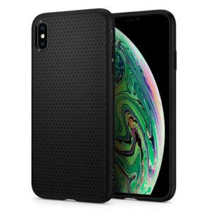 SPIGEN SGP LIQUID AIR APPLE IPHONE XS MAX MATTE BLACK HÁTLAP TOK