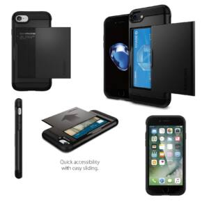 SPIGEN SGP SLIM ARMOR CS APPLE IPHONE 8/7 BLACK HÁTLAP TOK