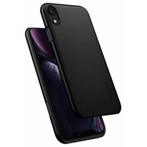 SPIGEN SGP THIN FIT APPLE IPHONE XR BLACK HÁTLAP TOK