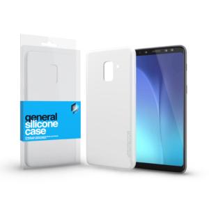 Szilikon tok Case ultra vékony 0.33 mm Samsung A8 2018 készülékhez