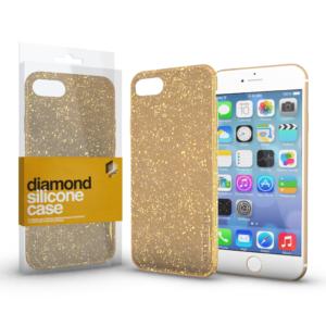 Szilikon tok (Diamond) Arany Apple iPhone 11 Pro készülékhez
