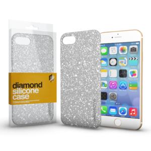 Szilikon tok (Diamond) Ezüst Apple iPhone X / XS készülékhez