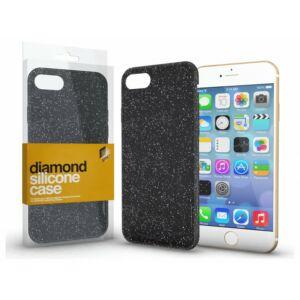 Szilikon tok (Diamond) Fekete Apple iPhone 11 Pro készülékhez