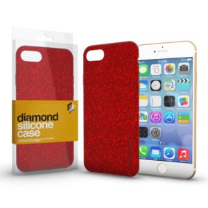 Szilikon tok (Diamond) Piros Apple iPhone 11 Pro készülékhez