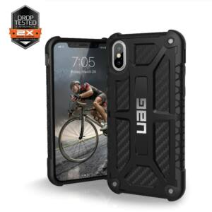 UAG MONARCH APPLE IPHONE XS/X HÁTLAP TOK, CARBON FIBER