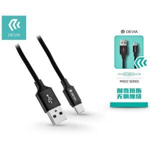 USB - USB Type-C adat- és töltőkábel 1 m-es vezetékkel - Devia Pheez USB Type-C 2.0 Cable - black