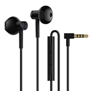 XIAOMI MI Dual Driver fülhallgató SZTEREO HI-RES (3,5mm jack, mikrofon, felvevő gomb, hangerőszabályzó) FEKETE