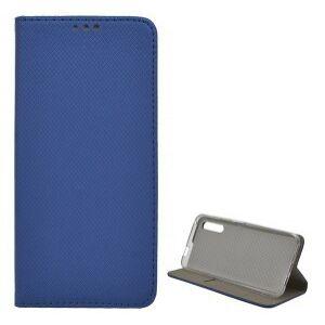 Xiaomi Mi Note 10 / Mi Note 10 Pro - tok álló, bőr hatású (FLIP, oldalra nyíló, asztali tartó funkció, rombusz minta) KÉK