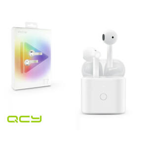 Xiaomi QCY Bluetooth sztereó TWS headset v5.0 + töltő dokkoló - QCY T7 Bluetooth TWS Smart Earbuds - white