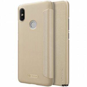 Xiaomi Redmi Note 8 Pro oldalra nyíló flipes tok - Nillkin Sparkle - arany