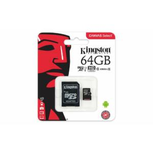 Kingston 64 GB microSDHC™ UHS-1 80MB/s memóriakártya