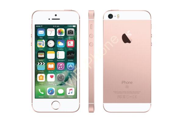 HASZNÁLT Apple iPhone SE 16Gb RoseGold kártyafüggetlen mobiltelefon