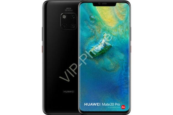 Huawei Mate 20 Pro 128GB Dual-Sim fekete kártyafüggetlen mobiltelefon