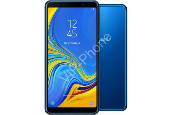 Samsung A750F Galaxy A7 (2018) Dual-Sim kék gyártói garanciás kártyafüggetlen mobiltelefon